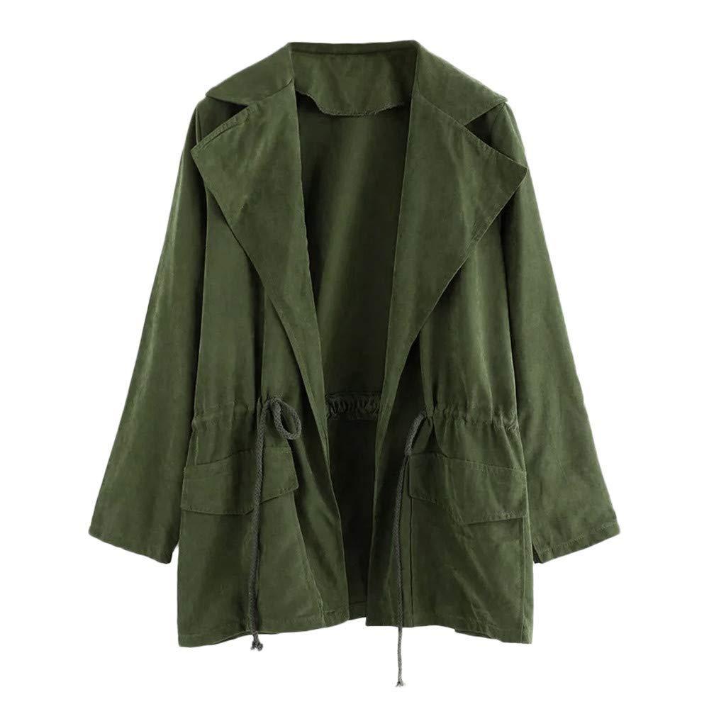 OldSch001 Coats for Women,Clearance Sale!Women's Long Sleeve Jacket Windbreaker Parka Coat with Pockets