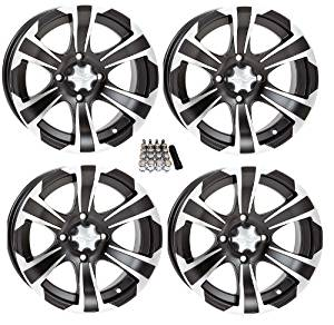 "ITP SS312 ATV Wheels/Rims Black 14"" Polaris RZR 1000 XP / Ranger 900 XP (4)"
