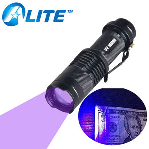 Wavelength 365nm 395nm UV Torch Violet Light Black Light Flashlight