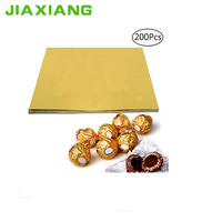 Gold foil paper printing roll chocolate wrapping paper sheet china factory