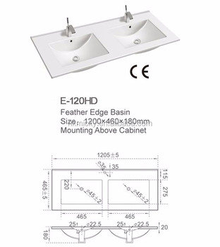 Clay Wash Basins Rectangular Double