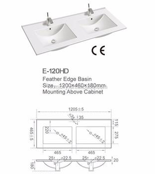 Clay wash basins rectangular double undermount bathroom sinks  sc 1 st  Alibaba & Clay Wash Basins Rectangular Double Undermount Bathroom Sinks - Buy ...