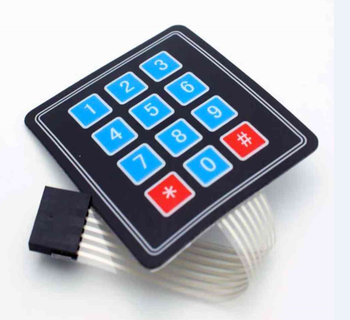 Made in China High quality custom membrane switch Keypad manufacturer with customized key and connector
