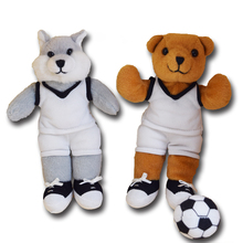 Custom made Mini Plush Cartoon animals Football Player Finger Puppets toys