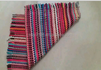 2015 New Designs Cotton Rag Rugs/Carpet Multi Colour Beautiful Stripes For  Dubai Market