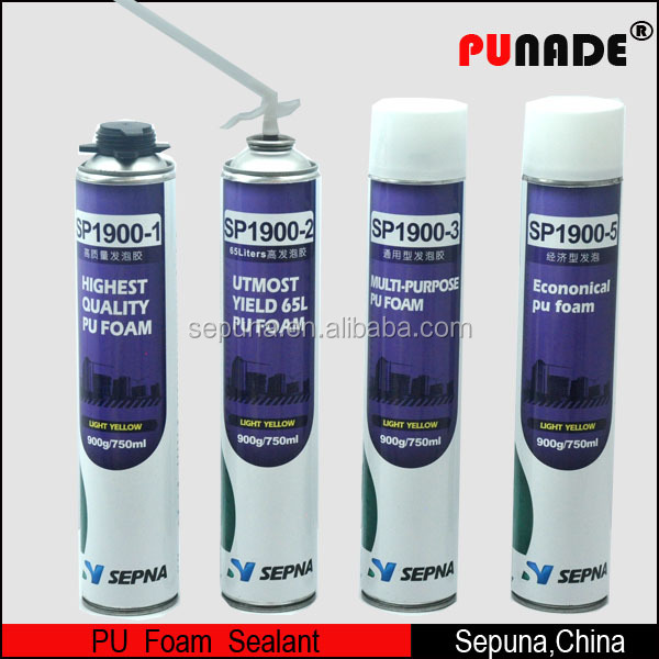Other Adhesives Classification and Polyurethane Main Raw Material expanding spray pu foam sealant