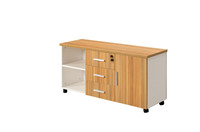 Office Wood Mobile Storage Cabinet with Lock Drawers