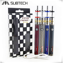 New starter kit airflow control evod twist 3 m16 adjustable & voltage e cigarette kuwait with factory price