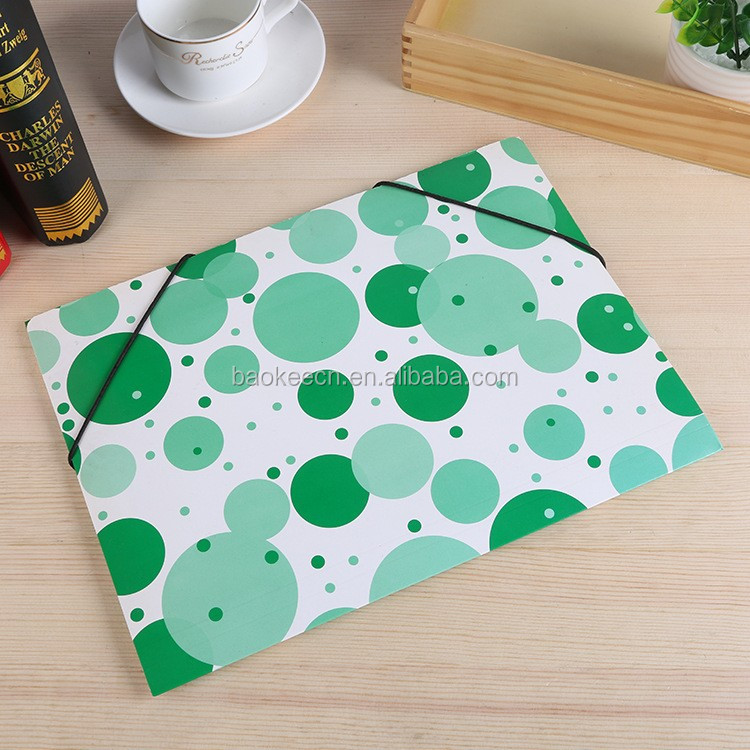 A4 A5 size stationery files paper elastic brand file