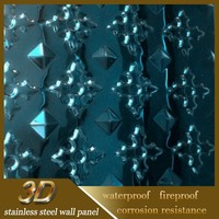 Night Club Stainless Steel Interior Decorative Embossed Wall Panel