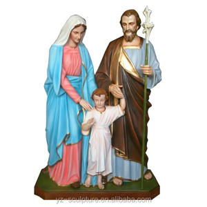 Church decoration fiberglass virgin mary statues with jesus