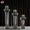 Pujiang SH-088 Cheap Hanging Crystal Candle Jar Glass Round Shape Candle Holder For Table Decoration
