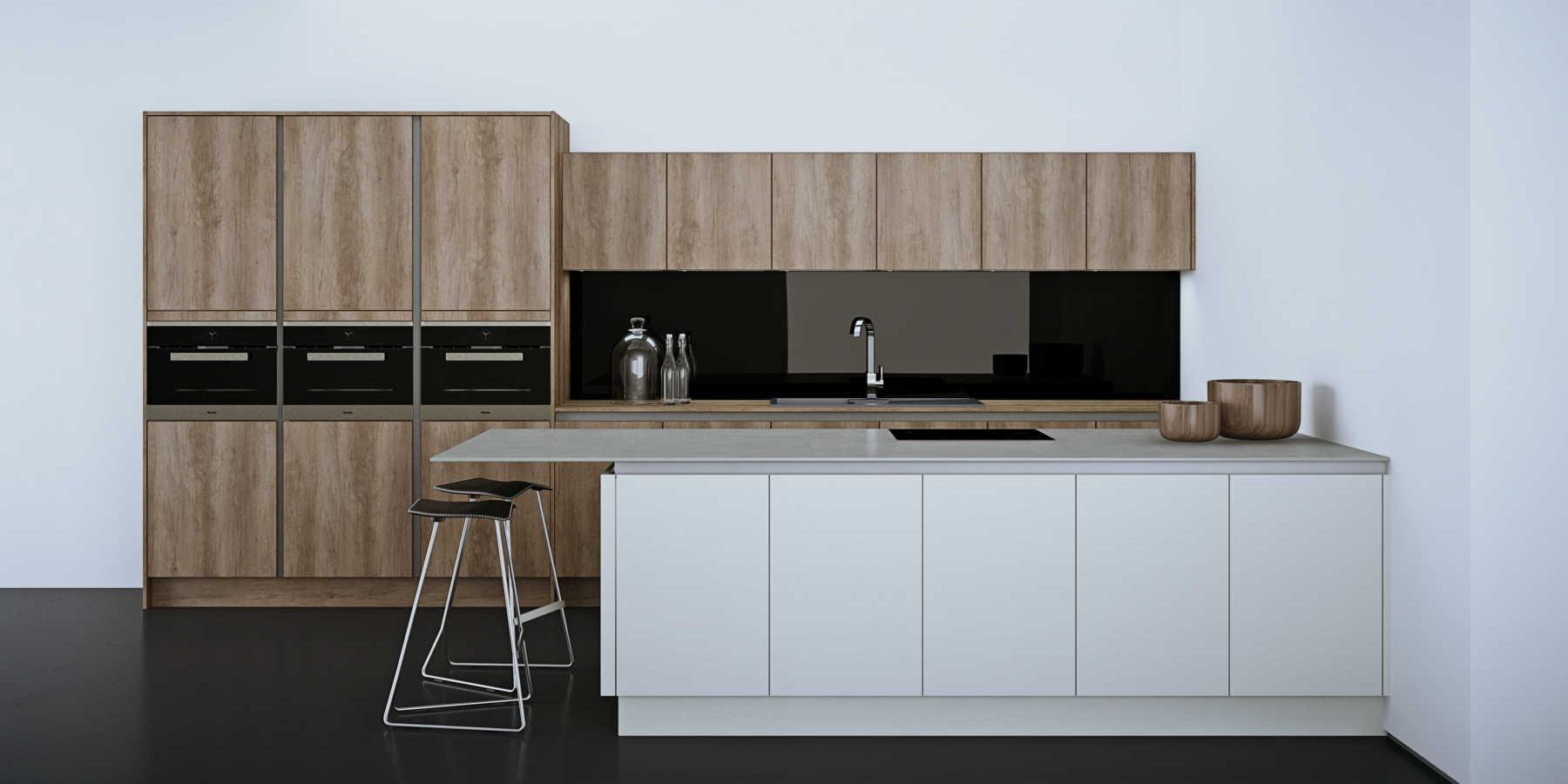 18mm Mfc Door Panel Water Resistant With Sink Kitchen ...