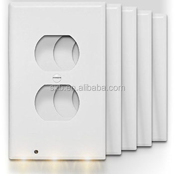 Night light sensor led plug cover snap on wall outlet coverplate night light sensor led plug cover snap on wall outlet coverplate angel emergency safety lamp mozeypictures Image collections