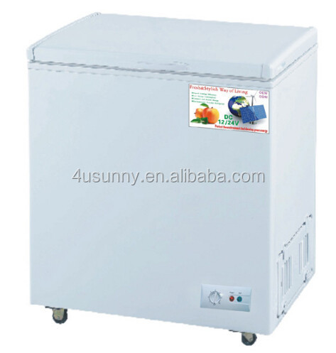 DC compressor Solar Energy Freezer&Refrigerator for Desert Using