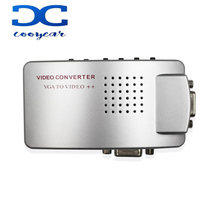 VGA a TV RCA AV Segnale Adattatore Video <span class=keywords><strong>Converter</strong></span> Switch Box Composito per il Computer Portatile Del <span class=keywords><strong>PC</strong></span>