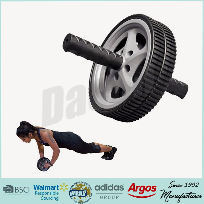 Fitness Equipment & Gear Sincere Double Wheeled Back Fitness Training Gym Abdominal Exerciser Power Roller Fitness, Running & Yoga