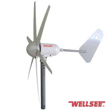 resdential/home use horizontal wind turbine with permanent magnet generator