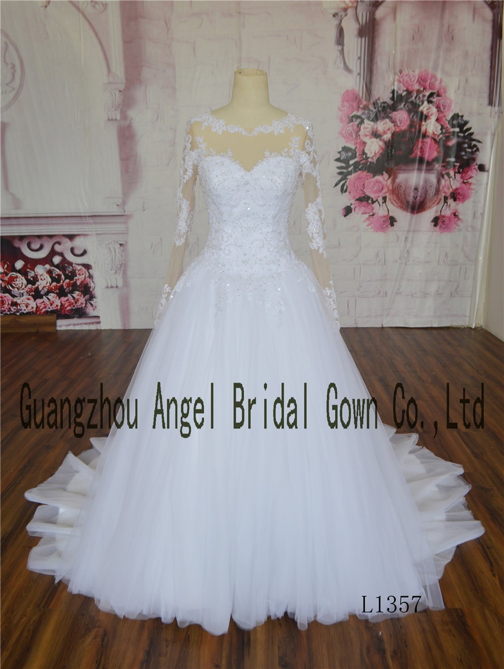 Arrival Vintage Factory Made Asa Tulle Ball Gown Real Image Wedding ...