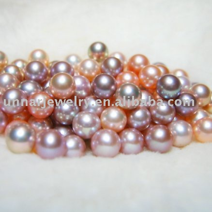 7-8mm high luster freshwater round loose pearl fine jewelry