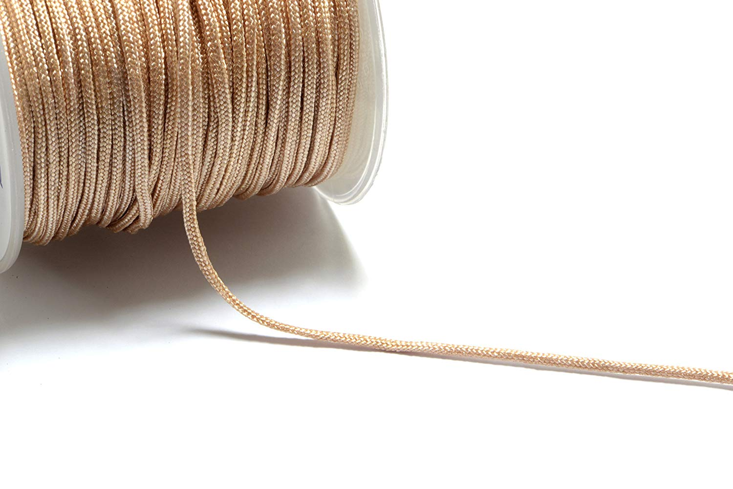 30m (98.4ft) (32.8 yards) 1.5mm Nylon Cords in Champagne Gold, Chinese Knotting Cord, Spooled, Beading String for Beads #SD-S7757