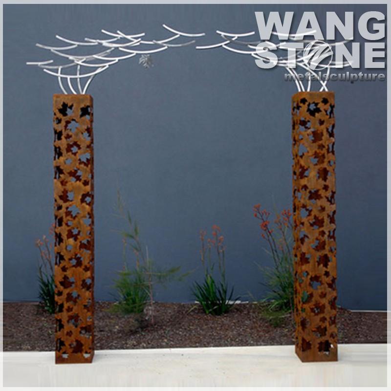Garden Craft Corten Steel Sculpture Metal Lantern Buy Metal Lantern Garden Corten Steel