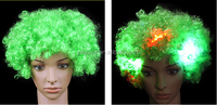 2016 Factory Price cheap polyester fiber clown led wig 100% Virgin