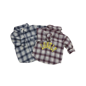 Wholesale 2019 Baby Clothes Shirt Clothing 0-4 Years Casual Spring Long Sleeve Plaid Baby Shirts Kids Clothing