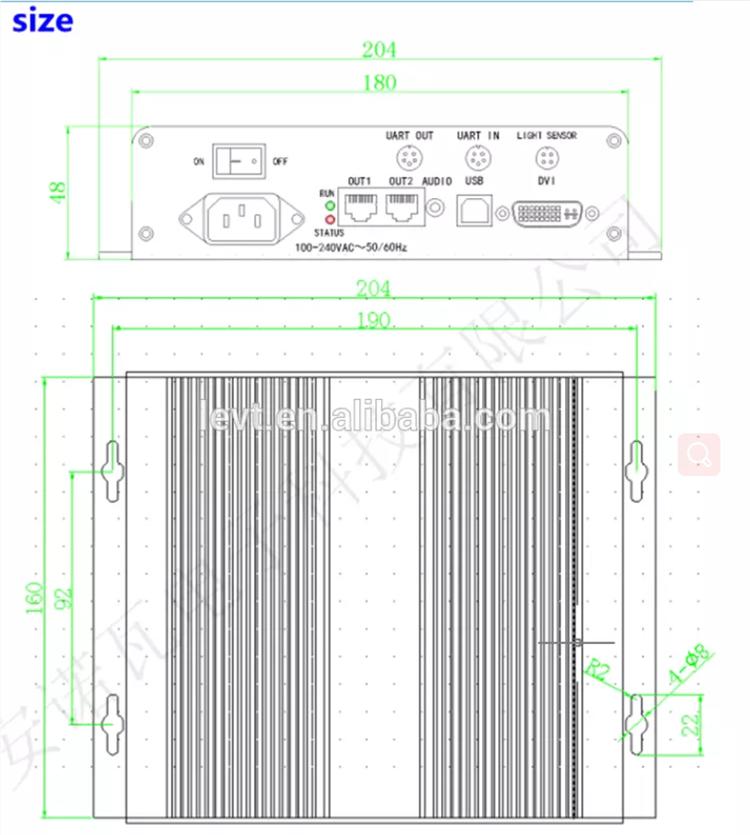 Triangolo Led display Novastar Invio Box Esterno per Nova MSD300. Carta come Mctrl300 Levt vendite dirette della fabbrica