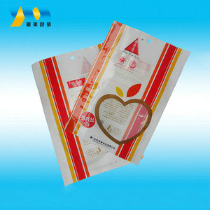 Good quality heat seal biodegradable hanger hole opp/pe compound plastic bags for food