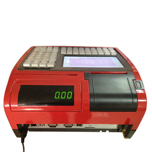 7 inch big LCD screen with 59 programmable keyboard Cash Register For Retail Shop