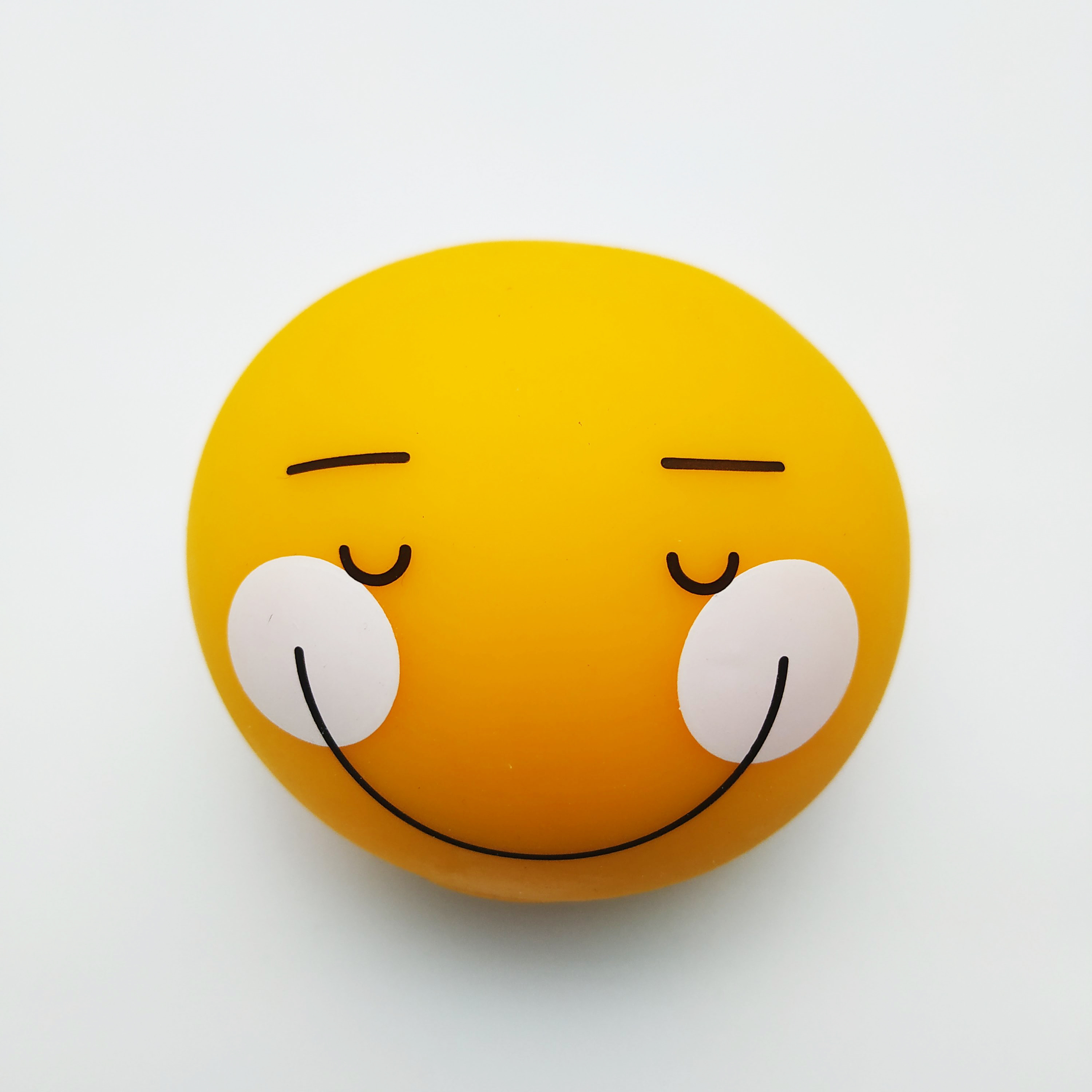 Newest Arrival Round Smile Face Stress Ball Toy Promotional Funny Elastic TPR Soft Ball With Customized Logo