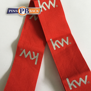 Custom wholesale Ribbon Factory direct price personalized design customized cool logo lanyard printing for medal no moq