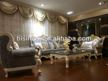 Luxury French Style Royal Sofa Set, Antique Wooden Hand Carved Living Room  Furniture Part 38