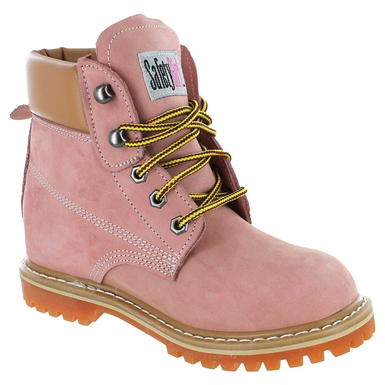 0740181732d Get Quotations · Safety Girl II Soft Toe Womens Work Boots - Light Pink