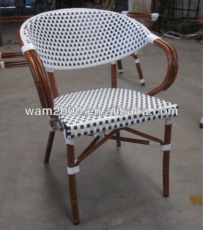 Jard n de aluminio mirada de bamb silla de comedor para - Sillas de bambu ...