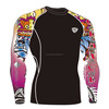 Sportswear manufacturers martial arts sublimate lycra blend compression shirts