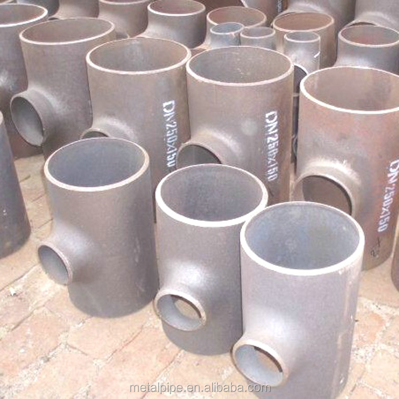 Butt welding Carbon steel Pipe Fittings 14''*10'' ASTM A106 A105 A234 A694 Reducing RED Tee