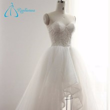 Real Photos Illusion Hot Sale Wedding Dress 2016 Bridal Gowns