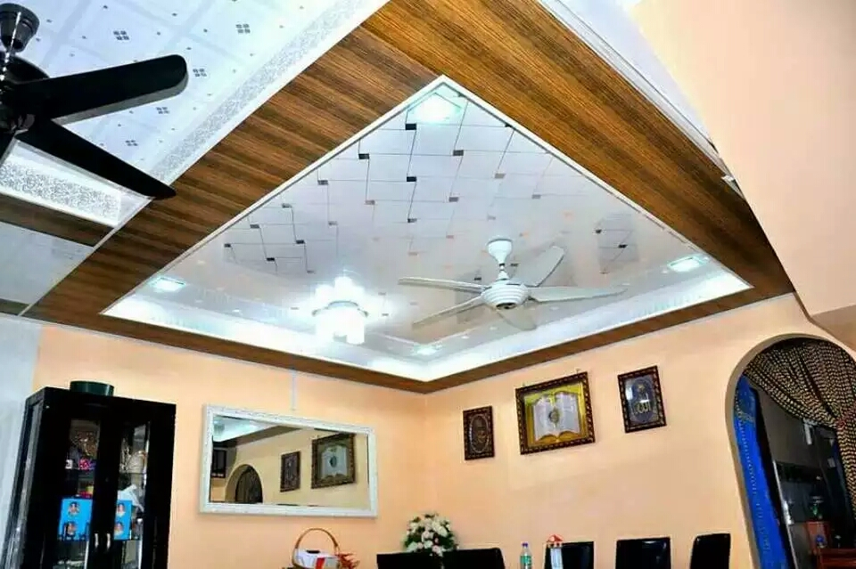 wooden design 25cm *8mm pvc panel for bathroom ceiling and wall panel decor