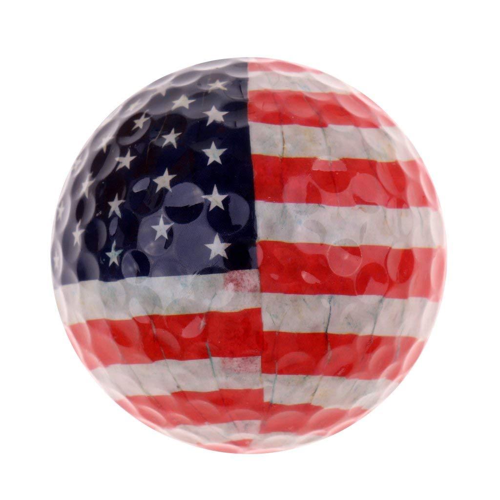 MonkeyJack Golf Ball Golf Training 1.68'' Soft Rubber Balls Practice Ball Flag Design