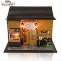 Diy Wooden Doll house Miniature Model Building Kit 3D Handmade Assembly Dollhouse Toy Birthday Gift Dolls