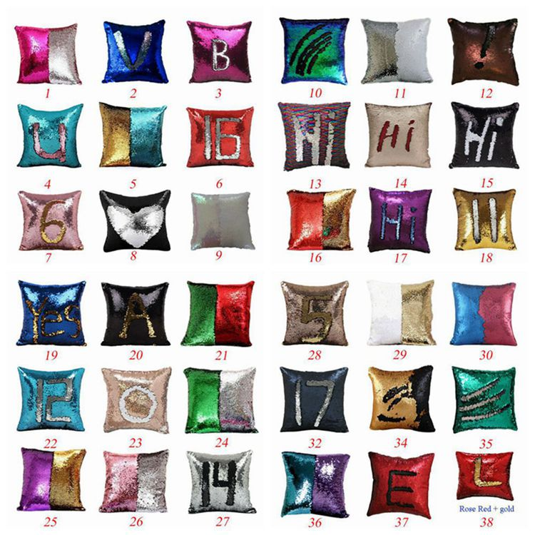 Custom made instock mermaid reversible sequin mermaid pillow cases