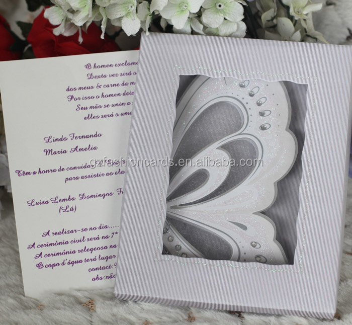 Latest Make Butterfly Royal Luxury Scroll 3d Small Wedding – Small Invitation Card