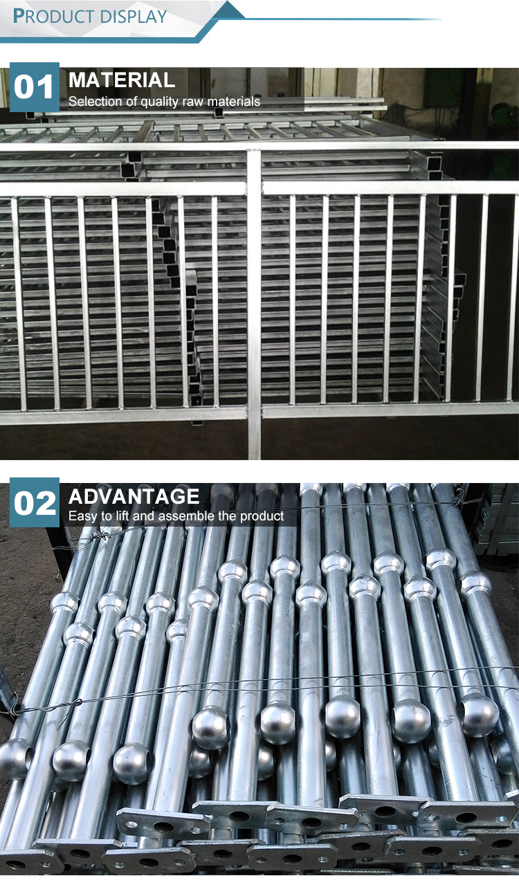 aluminum pipe handrail for staircase