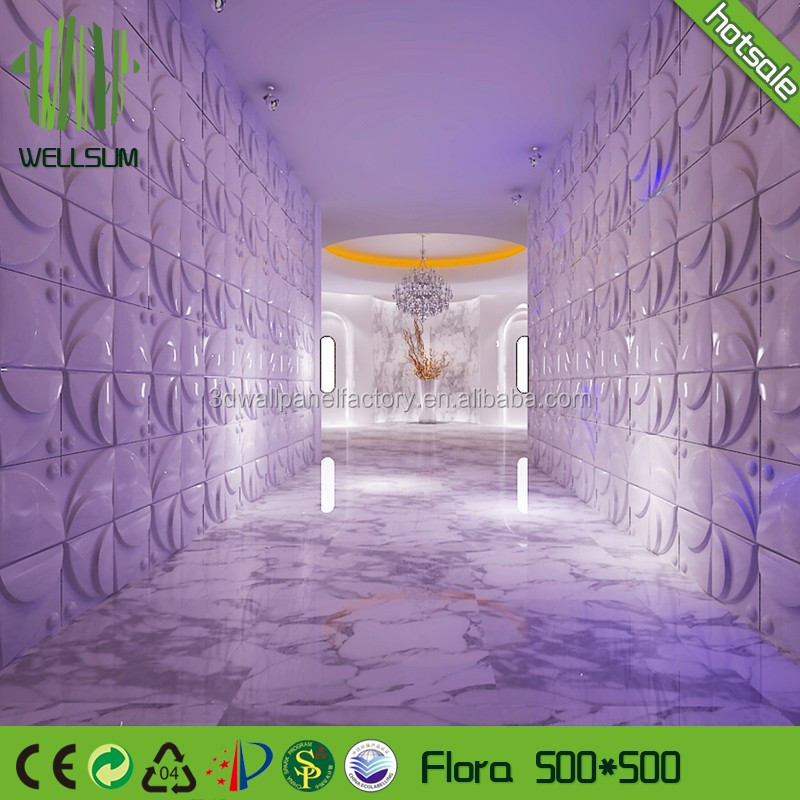 Plant fiber decor material 3d wall panel bamboo perfect sweetness for baby room