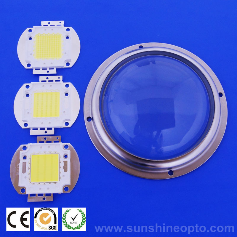 100mm diameter lens for high power 100w 150w led street light