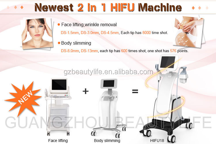 多機能 HIFU 2 1 で HIFU 顔リフティングとボディ痩身マシン