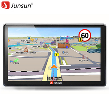 Junsun D100-PT 7 pollice Wince 256 mb + 8 gb Navigazione <span class=keywords><strong>di</strong></span> GPS Dell'automobile FM 800*480 2018 ultime Europa <span class=keywords><strong>mappa</strong></span> Sat nav Camion navigatori gps
