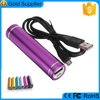 Metal Material cylinder shape 2800mah powerbank for mobile phones